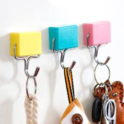 color plastic magnetic hooks